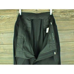 John Varvatos Black Wool Dress Pants 36 w